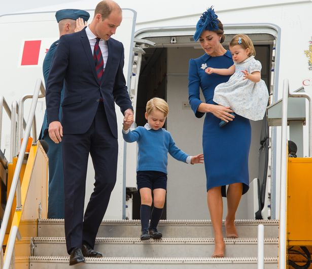 Princess Charlotte and Prince George with William and Kate