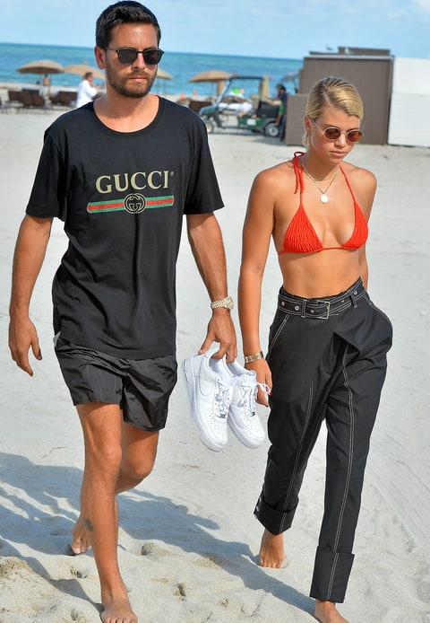 Scott Disick with Sofia Richie