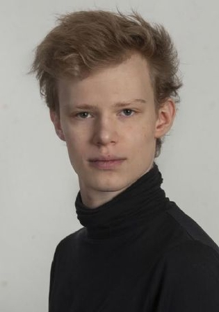 A Swedish actor. David Lindstrom teenage photo.