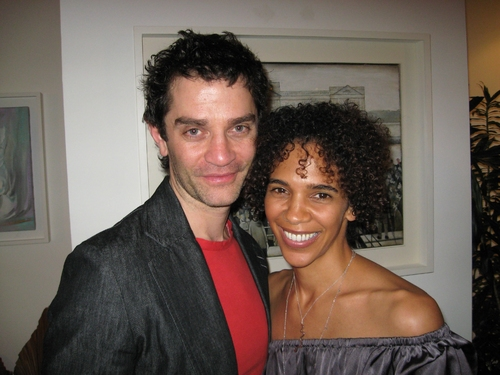 English White actor, James Frain and his wife, Marta Cunningham.