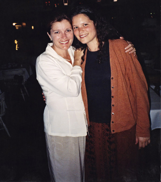 Kate Mulgrew and her daughter who was given to adaption during her young age.