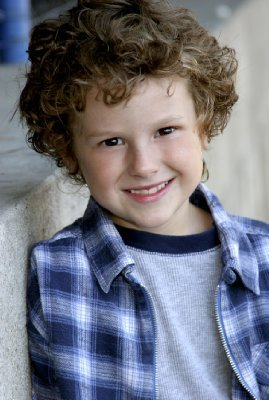 Young American actor, Nolan Gould childhood photo.