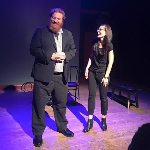 Husband and wife, Happy Anderson and Meg Griffiths in comedy show.