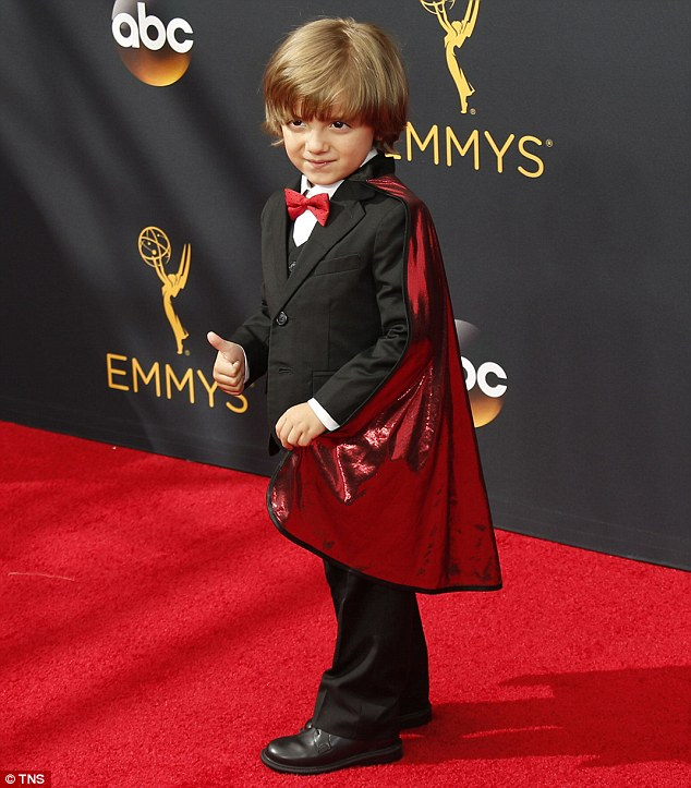 Young American Actor, Jeremy Maguire in the Red Carpet.