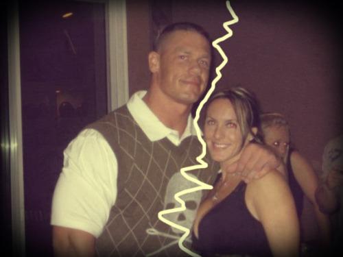 Elizabeth Huberdeau and John Cena