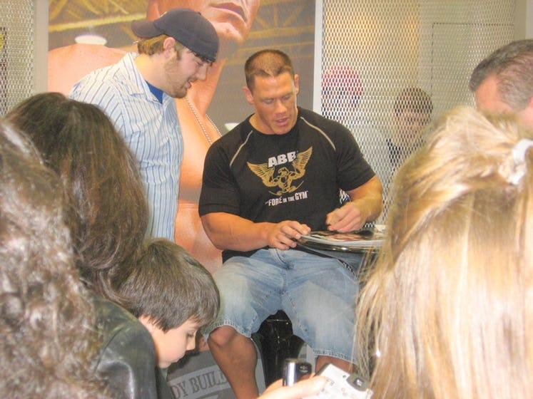 John Cena Signing Autographs