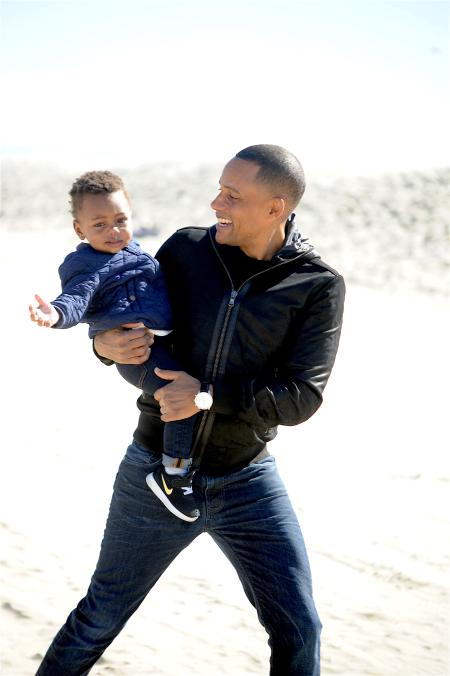 American Actor, Hill Harper and his adapted child.