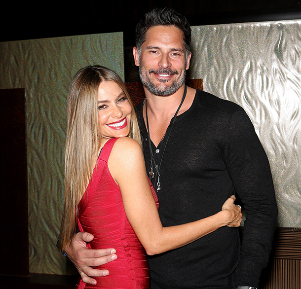 wife and husband, Sofia Vergara and Joe Manganiell.