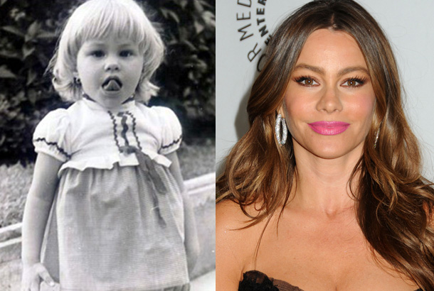 Columbian Actress, Sofia Vergara's childhood photos.